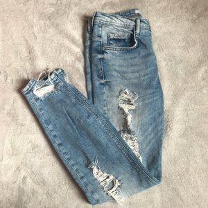 Zara Trafaluc Distressed Skinny Jeans 4